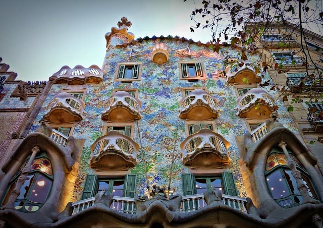 Casa Batlló de Gaudí em Barcelona