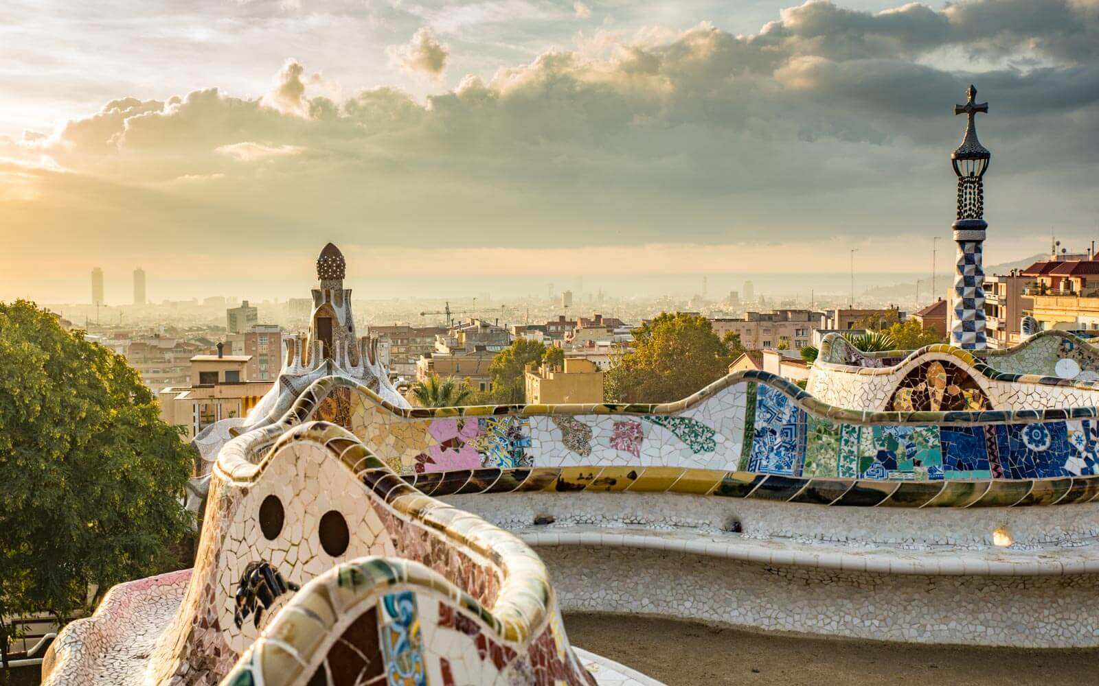 Vista da cidade de Barcelona - Parque Güell