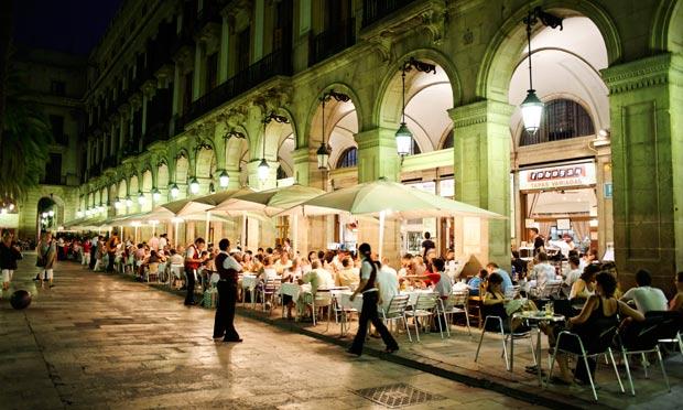 Plaça Reail em Barcelona