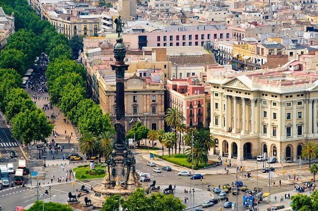 Las Ramblas - centro de Barcelona