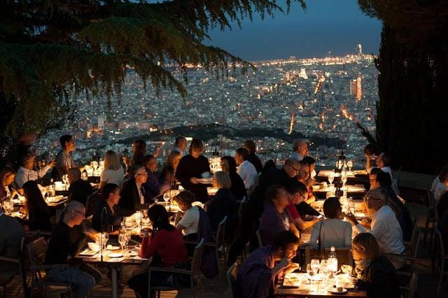 Restaurante com vista em Barcelona
