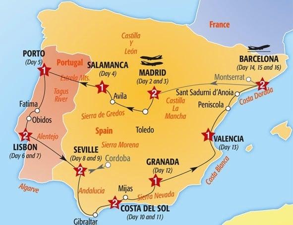 Dicas gerais do aluguel de carro em Menorca - Mapa Roteiro