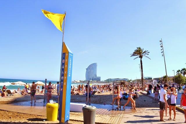 Praia de Sant Miquel em Barcelona