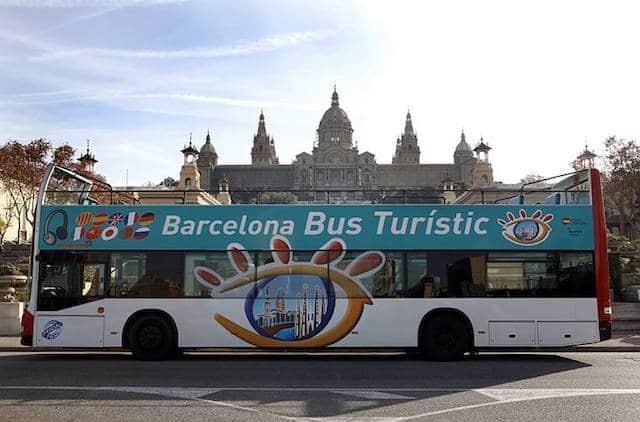 Barcelona Bus Turístic em Montjuic