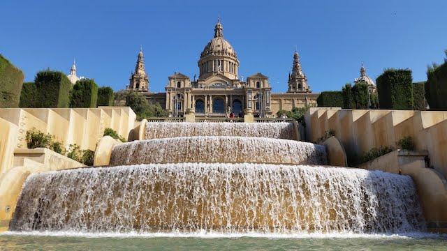 Fonte de Montjuic em Barcelona