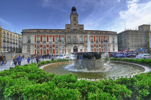 Região de Puerta del Sol em Madri