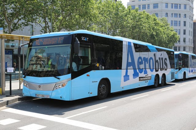 Aerobús em Barcelona