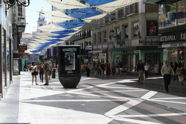 Calle Preciados em Madri - compras
