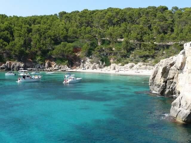 Cala Escorxada em Menorca