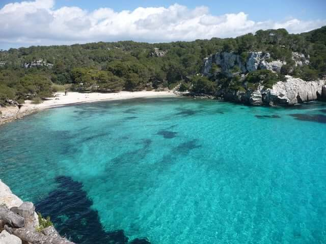 Cala Macarella em Minorca