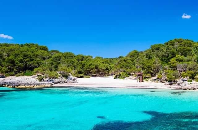 Cala Turqueta em Menorca