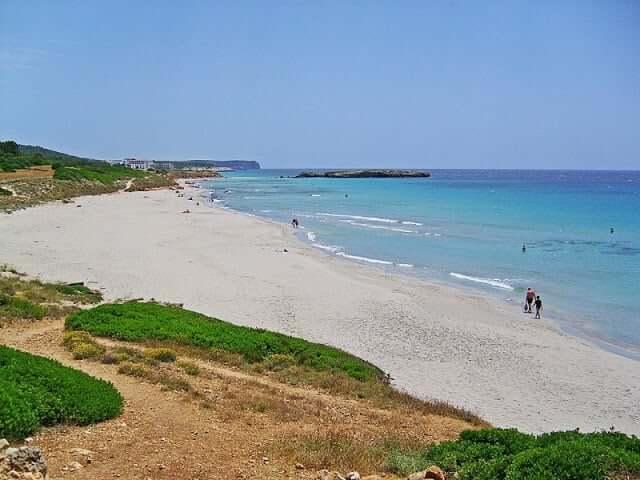 Playa Binigaus em Menorca