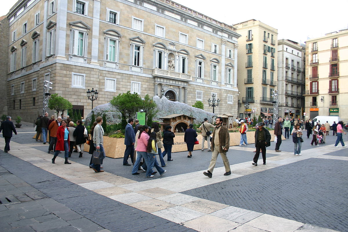 Plaça de Sant Jaume em Barcelona