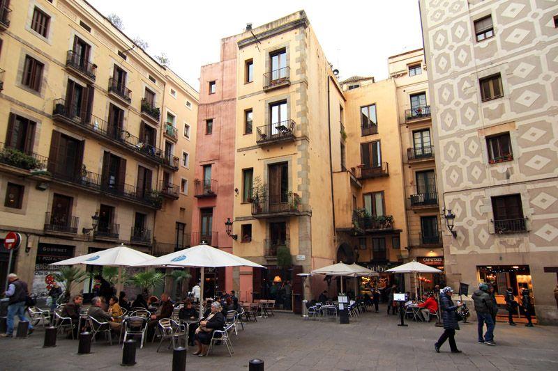 Plaça de Santa Maria em Barcelona