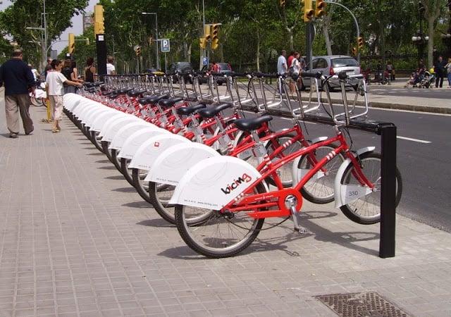 Bicicletas disponíveis em Barcelona