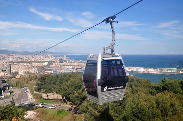 Teleférico de Montjuic em Barcelona