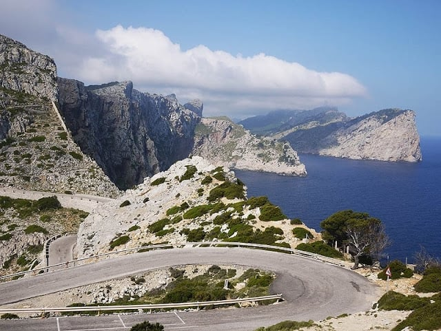Vista da estrada até o Cap de Formentor