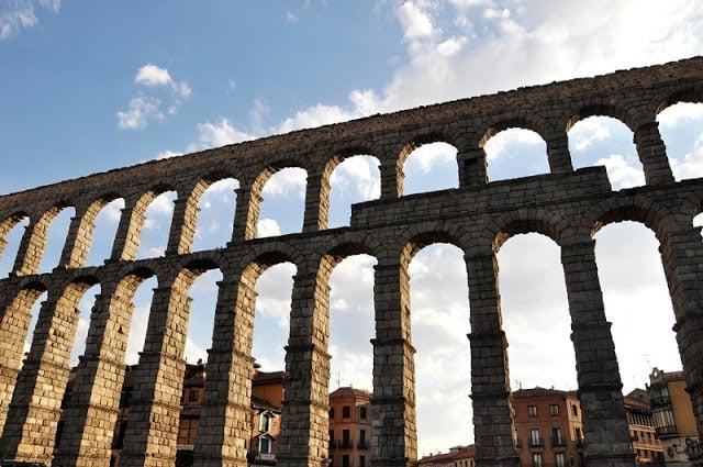 Aqueduto de Segovia na Espanha