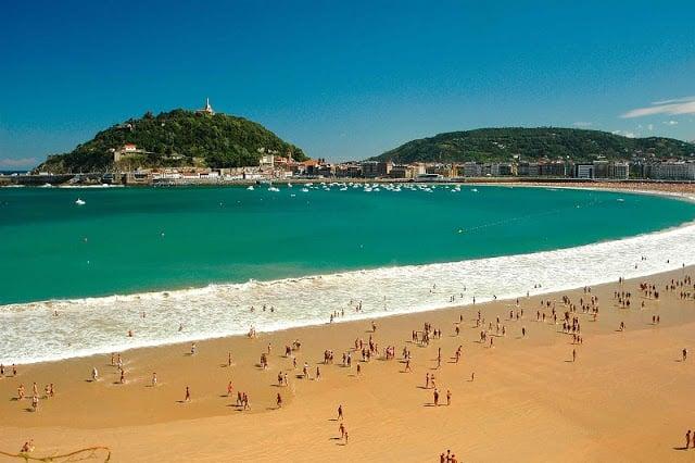 Playa de La Concha em San Sebastián