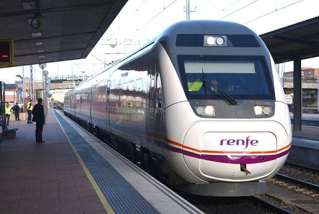 Trem Renfe na Espanha