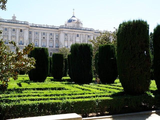 Jardins de Sabatini em Madri