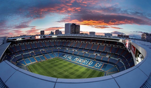 Estádio Santiago Bernabéu do Real Madri