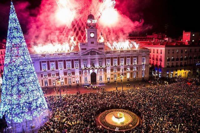Virada do ano nas Ruas de Madri