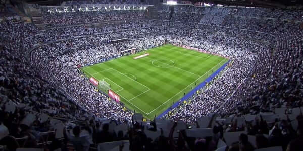 Jogo do Real no Santiago Bernabéu