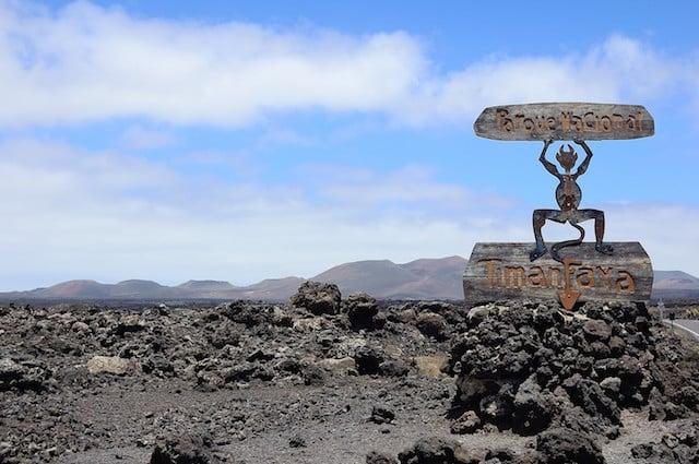 Parque Nacional de Timanfaya nas Ilhas Canárias