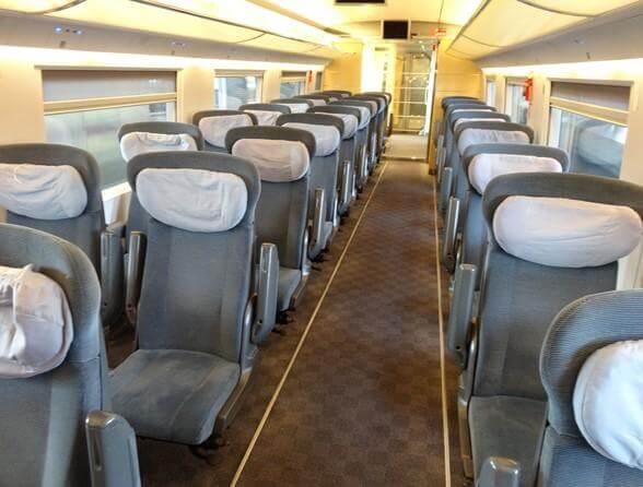 Viagem de trem de Sevilha a Barcelona
