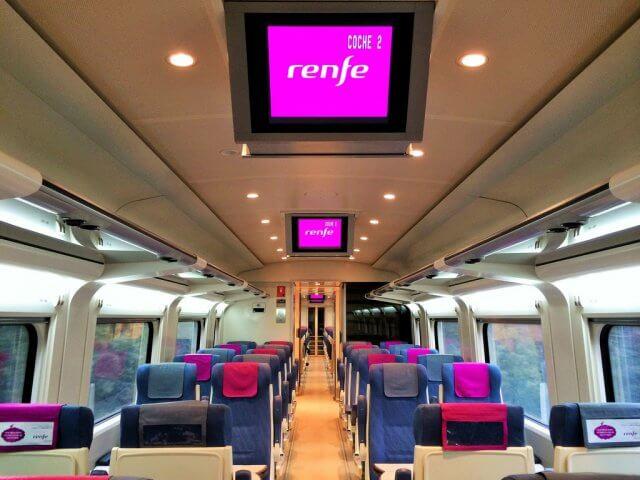 Viagem de trem de Santiago de Compostela a Madri