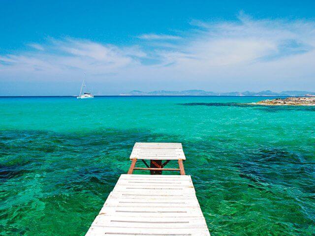 Pontos turísticos em Formentera