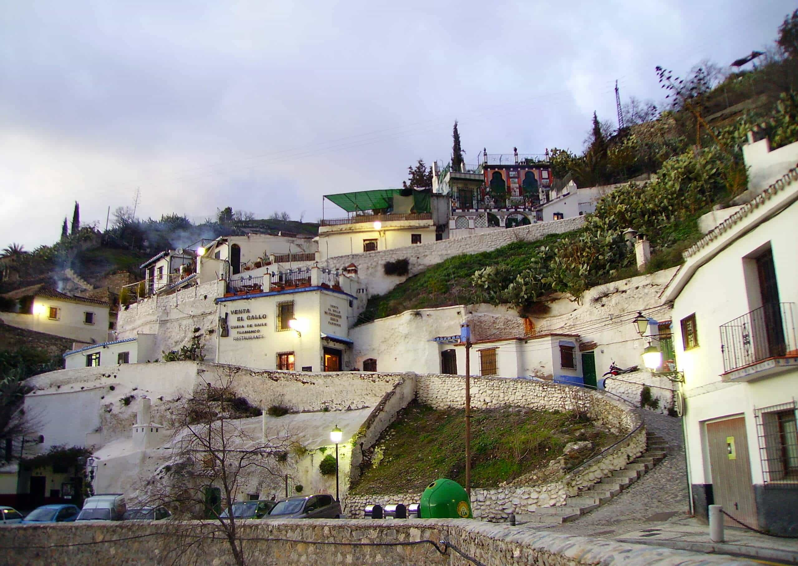 Bairro de Sacromonte em Granada