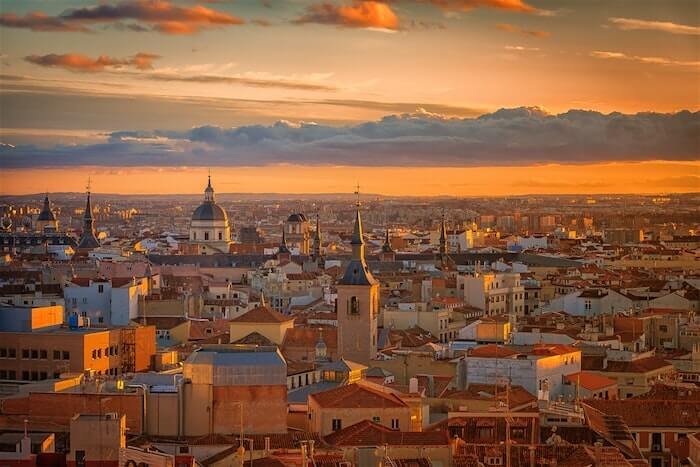 Dia ensolarado em Madri