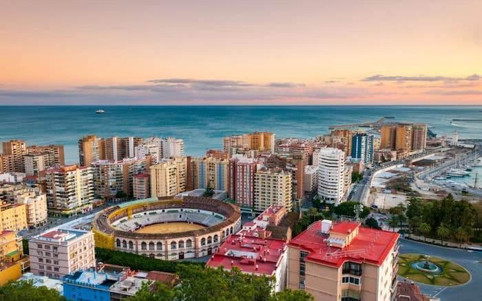 Vista de Málaga