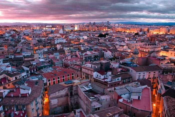 Vista da Torre Miguelete em Valência