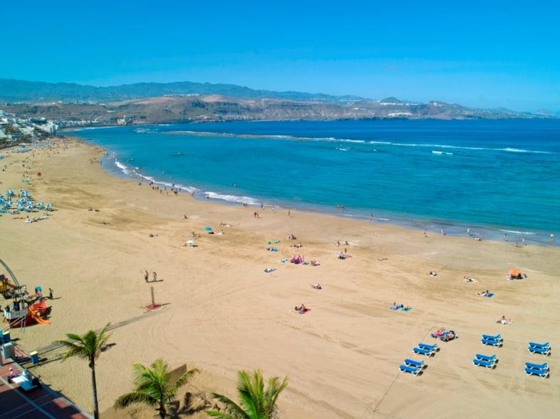 Las Canteras em Gran Canaria