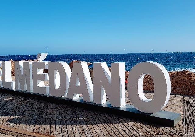 Nome da praia de El Médano em Tenerife