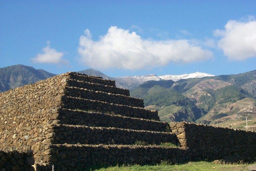 Paisagem da Pirâmide de Guimar em Tenerife