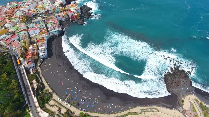 Vista aérea Playa Jardin en Tenerife
