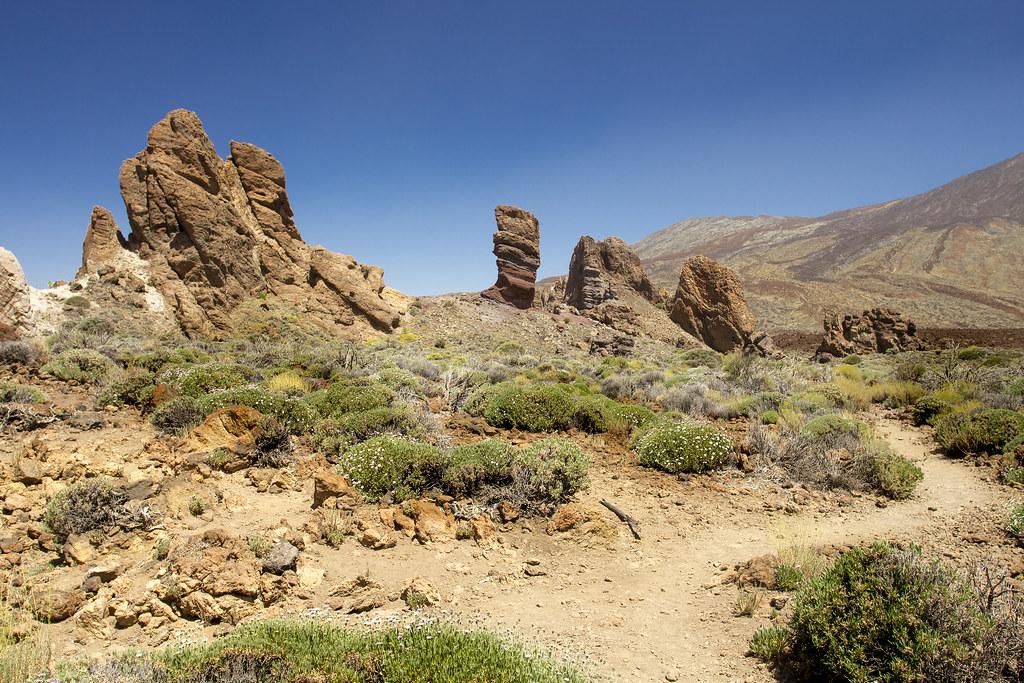 Vista do El Roque Cinchado em Tenerife